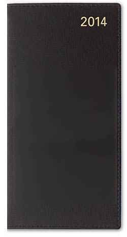 Letts of London 2018 Sterling Slim 33S Horizontal Week to View Diary (S Size) Calendar (Black) by Letts of London