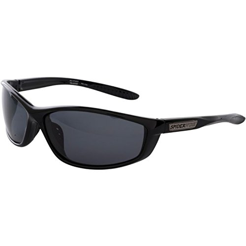 Spiderwire WEBSPN Hunting Safety Glasses, Medium/Large, Smoke and Gloss Black - Sunglasses Spider