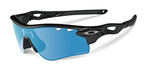 Oakley Men's Radarlock Path OO9181-53 Polarized Iridium Shield Sunglasses, Polished Black, 138 - Radarlock Path Prizm