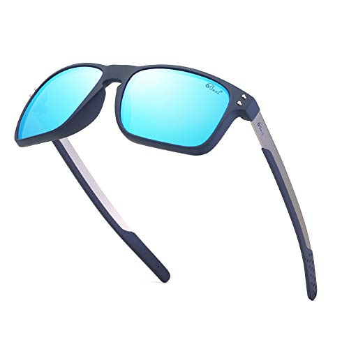 Bevi Polarized Sports Sunglasses Square Wayfarer Glasses for Men Women Running Cycling Fishing Golf Baseball 2556C3