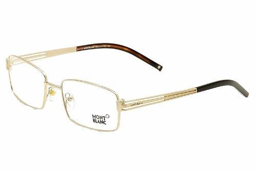 glasses MB347 MB/347 028 Polished Gold/Shiny Black Full Rim Optical Frame 55MM ()
