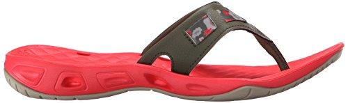 Columbia Women's Sunbreeze Vent CRUZ Flip Sandal Nori/Laser Red z3yWOcds