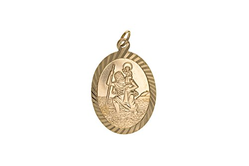 Stubbs Pendentif Motif Saint Christophe en or 9 carats -
