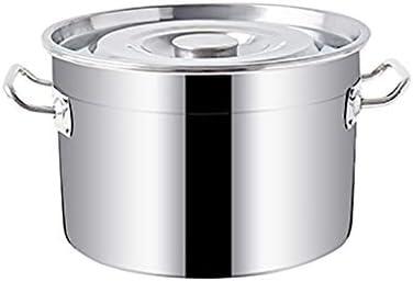 Stockpots、サイドハンドル付きステンレス鍋、ステンレス鋼のStockpot鍋を有する蓋(直径/高さ:35センチメートル。/ 22 cm)の