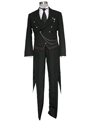 Sebastian Black Butler Costume (Mtxc Men's Black Butler Cosplay Costume Sebastian Michaelis 1st Size Large Black)
