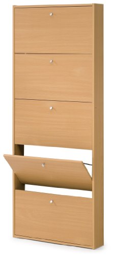 Springfield 5 Drawer Shoe Cabinet Finish: Beech