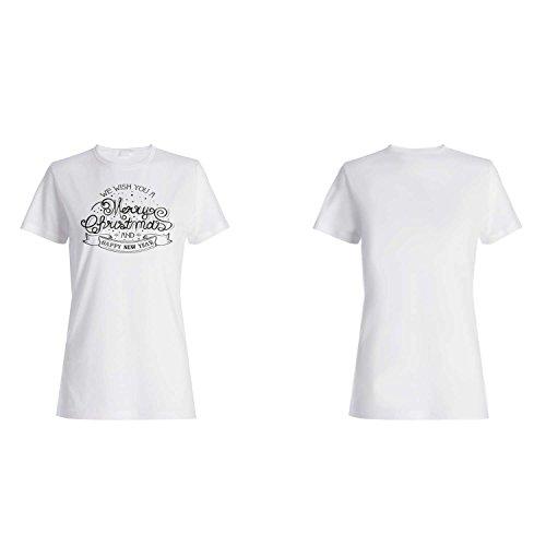 GLÜCKLICH FROHE WEIHNACHTEN NEUJAHR LUSTIG NEUHEIT Damen T-shirt l8f