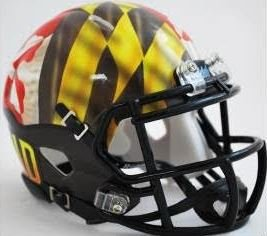 Maryland Terrapins Riddell Speed Mini Replica Pride Football Helmet