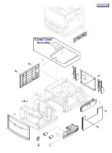 HP RB2-7762-020CN Paper size switching lever - To adjust paper size in tray ()