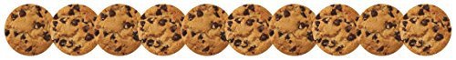 Hygloss Products Chocolate Chip Cookies Die-Cut Bulletin Board Border - Classroom Decoration - 3 x 36 Inch, 12 Pack