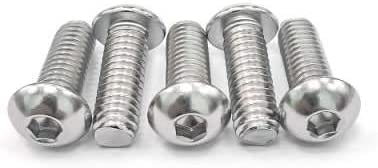 3//8-16x 1-1//4 Button Head Socket Cap Bolts Screws Fully Machine Thread 304 Stainless Steel 18-8 Bright Finish 10 PCS by Eastlo Fastener