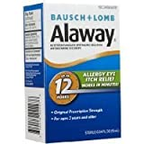 Bausch and Lomb Alaway Itch Relief Eye Drops - 0.34 oz. (Quantity of 2)