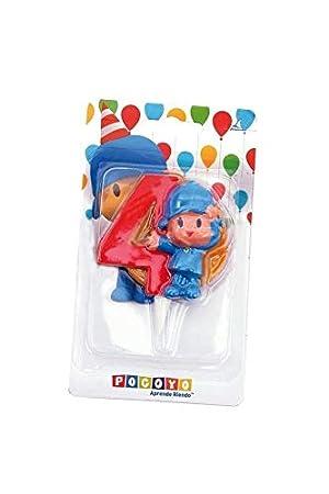 Amazon.com: Vela Pocoyo Número 4: Toys & Games