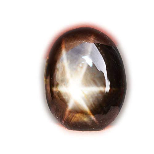 lovemom 2.52ct Natural Cabochon Black Stars Sapphire 6 Ray Thailand #R by lovemom