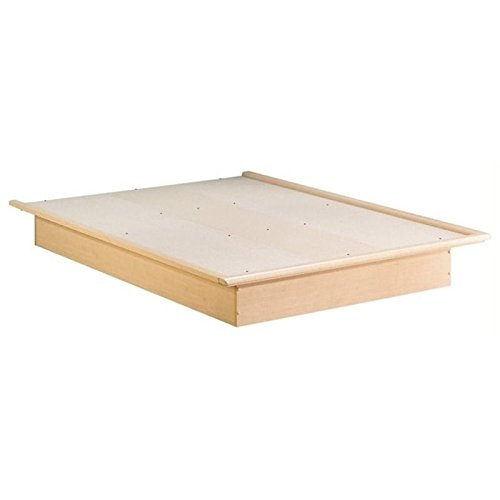 South Shore Queen Platform Bed in Natural Maple