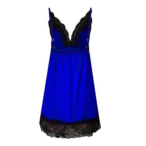 Coquine V Caraco Angelof Femme Nuisette Dark Soierie Ouverte Sexy M Coquin Bleu Erotique Babydoll Col Dessous Lingerie 7X0Uqrx7