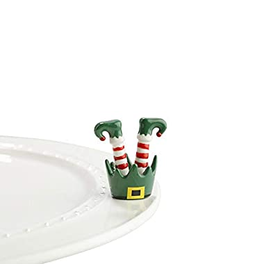 Nora Fleming Hand-Painted Mini: Jingle Toes (Elf Feet) A143