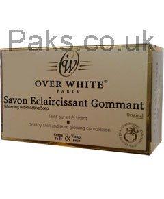 Jabón blanqueador y exfoliante Over White para aclarar la piel, pastilla de 200 g: Amazon.es: Belleza