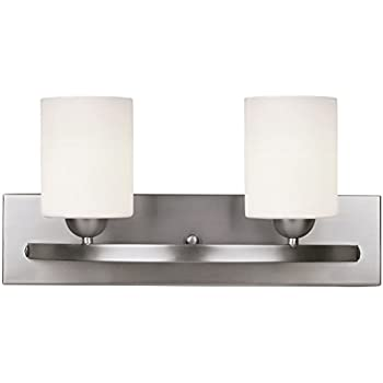 Brushed nickel 2 globe vanity bath light bar interior - 8 light bathroom fixture brushed nickel ...