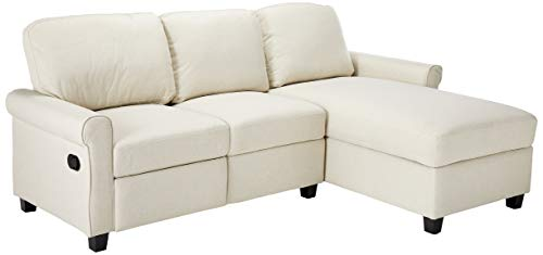 Right Reclining Sectional - Serta Copenhagen Reclining Sectional with Right Storage Chaise - Beige