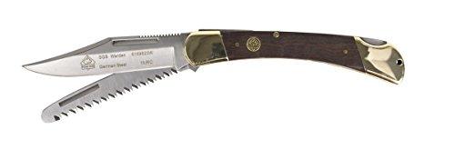Micarta Leather Sheath (Puma SGB Warden With Saw Jacaranda Wood Lock Back Folding Knife)
