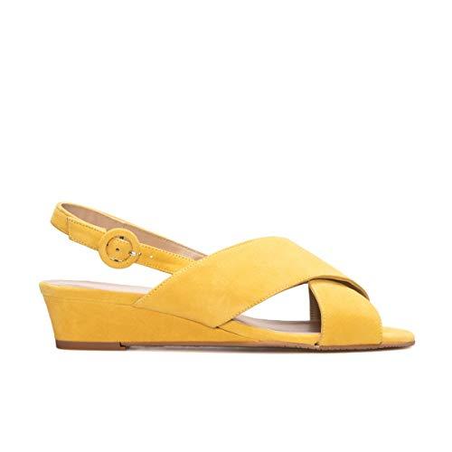 GENNIA Leire Mustard Yellow - Colour Mustard Yellow/Size 43 EU 10.5 M US/Height Heel 2 cm