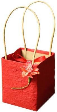EVEYYTG 20 unids/Lote Wedding Candy Box + Bolsa de Papel Mariage Creativo Bautizo Cumpleaños Caja de Chocolate Bolsas de Regalo y Suministros de Embalaje, Rojo sin Dulces, 7.5x7.5x9cm