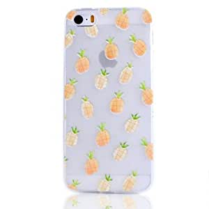 Pineapple Fruit Pattern Transparent TPU Soft Phone Case for iPhone 5/5S