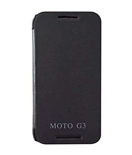 outlet store 07234 cd594 COVERNEW Flip Cover for Moto G3 (Black)