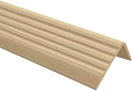 90CM QUEST Treppenkantenprofil SELBSTKLEBEND PVC Gummi Kantenschutz 40x25 DUNKELGRAU