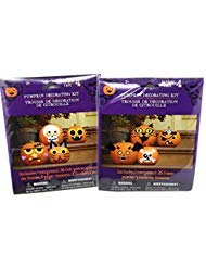 Halloween Pumpkin Decorating Kits for 8 Pumpkins - A Safer Alternative to Traditional Carving, no Knives or Cutting (Classic Characters (Bat, Pirate, Skull, Spider, Frankenstein, Cat))