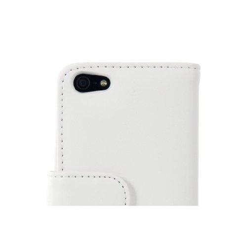 Custodia protettiva Wallet Case Portafoglio in simil pelle BIANCO - Cover per iPhone 5C - Protettiva - ORIGINALE EASYPLACE®