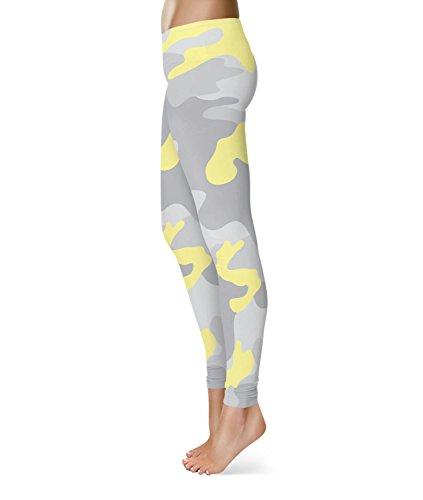 Queen of Cases - Legging de sport - Femme jaune jaune taille unique ... 361d4a66ce4