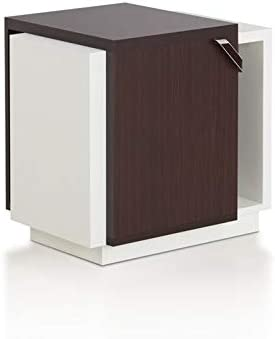 Furniture of America Nicollette Contemporary End Table in Walnut