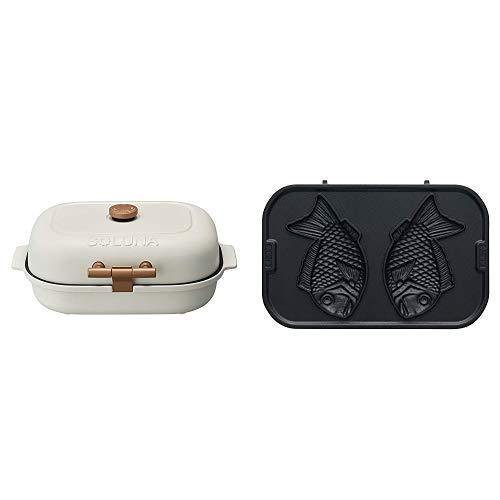 【セット販売】ドウシシャ 焼き芋メーカー 3枚プレート付(焼き芋、平面、焼きおにぎり) 温度調節機能付き BakeFree WFT-103 +たい焼きプレート   B07JZ54BNV
