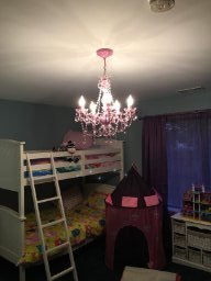 The Original Gypsy Color 4 Light Small Pink Chandelier H 17.5'' x W 15'', Pink Metal Frame with Pink Acrylic Crystals by Gypsy Color (Image #4)