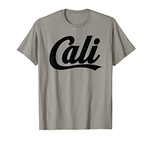 (Cali Bold Script Logo (Black) T-Shirt for California Fans)