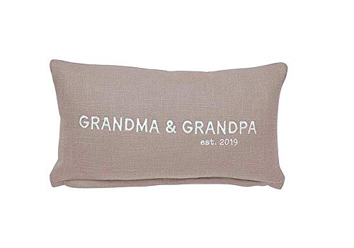 Mud Pie Grandma & Grandpa 2019 Pillow Size: 7