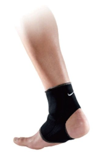 Nike Ankle Sleeve (Black/Dark Charcoal, Medium)