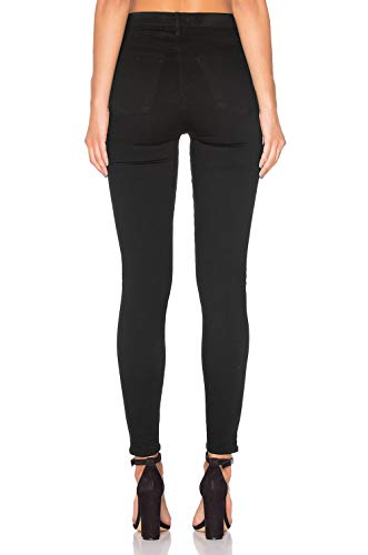 Donna Elasticizzati Pantaloni Skinny Alta HIAMIGOS H a Elastico Denim Jeans Nero Vita in 8OEfwq