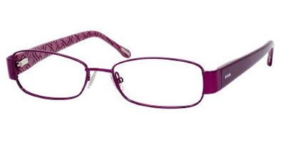 Fossil LEXIE Eyeglasses (0RU6) Plum, 53 - Mens Fossil Glasses