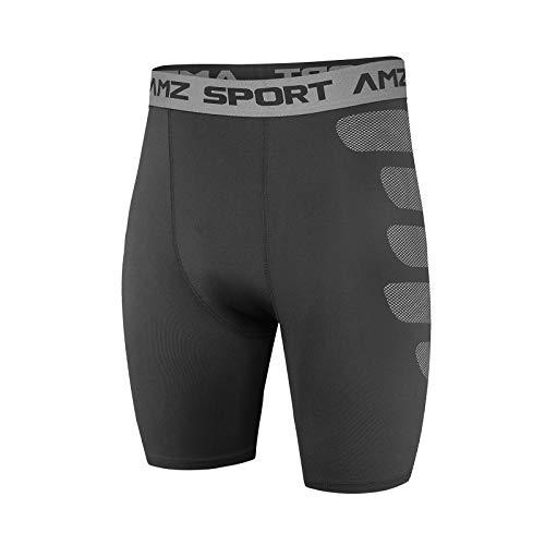 AMZSPORT Heren Compressie Shorts Koel Droog voor Sport Training