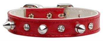 Just the Basics Crystal and Spike Collars Red 16