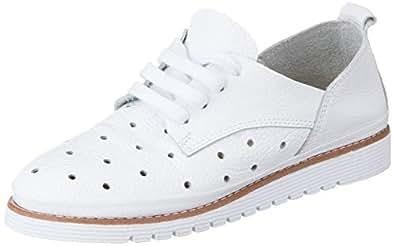 ELLE Kadın Oraabel Oxford Bağcıklı Ayakkabı, Beyaz, 36 Numara