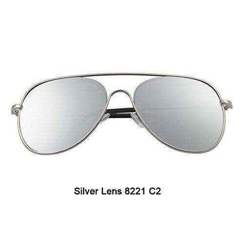 Gafas TIANLIANG04 nuevas Gafas gafas calidad gafas de alta hombres de sol hombres recubierto Silver de gafas naranja lente Lens color PzPSq