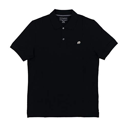 Banana Republic Men's Polo Shirt Elephant Logo Solid (X-Large, Black)