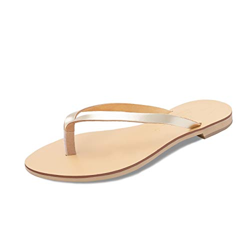 Naturel Tongs D'été Plates Or Sandales Femmes Luca Schmick Chaussures 8qfA4ww