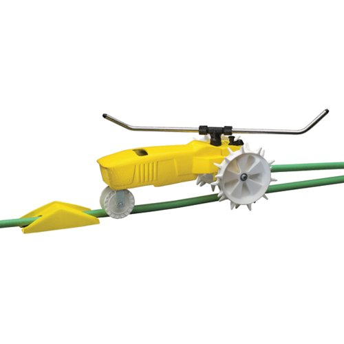 Nelson Traveling Sprinkler RainTrain 13,500 square feet Yellow 818653-1001