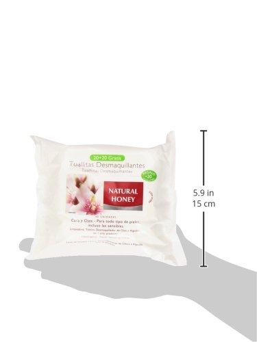Natural Honey Natural Honey - Toallitas desmaquilladoras, 20 + 10 unidades, 200 gr: Amazon.es: Belleza