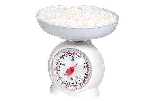 Báscula de cocina analógico metal blanco/plástico max, 3 kg, (BL13 ...